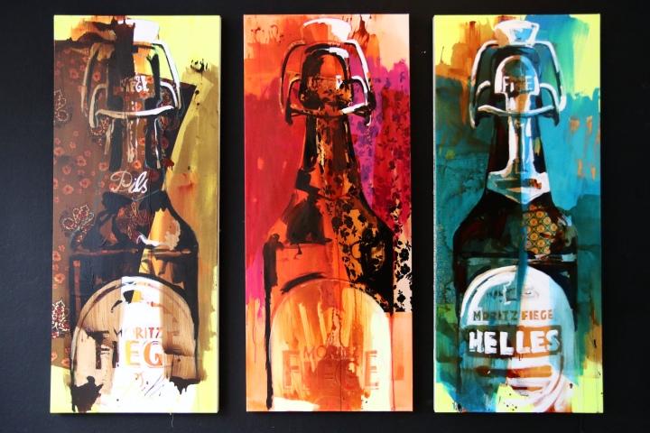 Fiege-Flaschen 2 - je 120x240 cm - Stephan Geisler